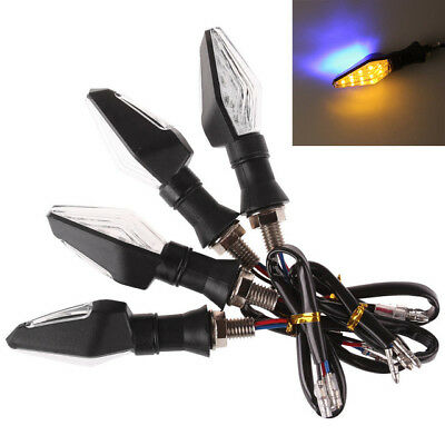 Flashing Motorcycle LED Turn Signal Light Indicator Lights Front Rear Motorbike