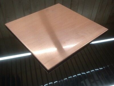 "1/8"" COPPER SHEET PLATE NEW 8""x8"" .125 THICK *CUSTOM 1/8 SIZES AVAILABLE*"