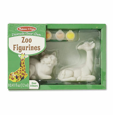 Melissa and Doug Zoo Figurines Decorate Your Own - Kids Paint DYO Tiger Giraffe