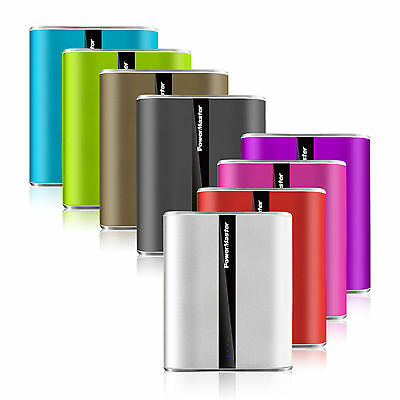 12000mAh Power Master Dual USB LED Power Bank Battery Charger Portable 8 Colors