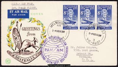 28 Sept 1958, PANAM flight Melbourne to San Francisco, (AAMC 1396).
