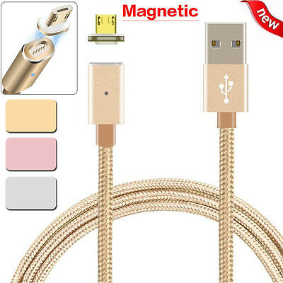 2.4 A Micro USB Charging Cable Magnetic Adapter Charger for Samsung Android Sony