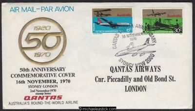 16 Nov 1970, Qantas 50th Anniv. flight Sydney to London, (AAMC 1718)