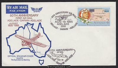 19 Aug 1985, 50th Anniv. of first Adelaide - Darwin flight (AAMC 2004)