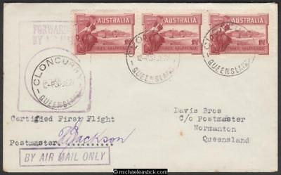 1 July 1927 Cloncurry to Normanton, certified First Flight cover, AAMC 106