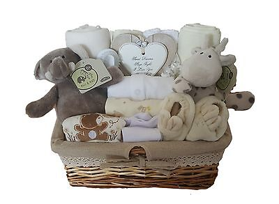 Baby Gift Basket Unisex. Baby Hamper Neutral.Baby Shower Gift Basket. Nappy cake