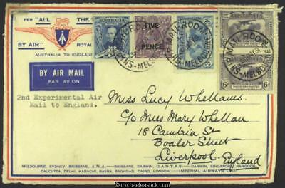 31 May 1931, 2nd Experimental Air Mail to England,Imperial Airways, (AAMC 203)