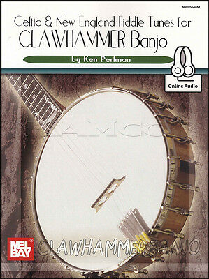 Celtic & New England Fiddle Tunes for Clawhammer Banjo TAB Book & Audio 5 String