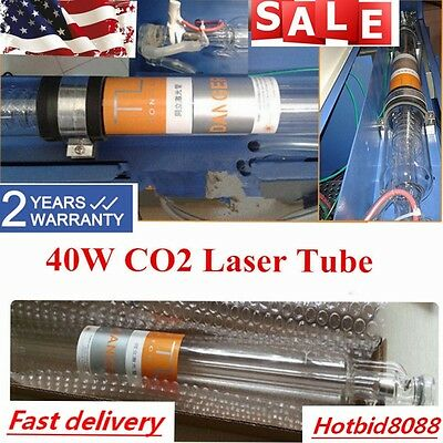 40W Laser Tube For CO2 USB Laser Engraving Cutting Machine Water Cooling US SALE
