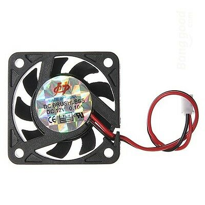 12V 2 Pin 40mm Computer CPU Cooling Fan PC Radiator refroidissement Ventilateur