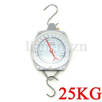 25KG Hanging Scale Alloy Quality Heavy Weighing Mechanial Hanging Hook Fishing