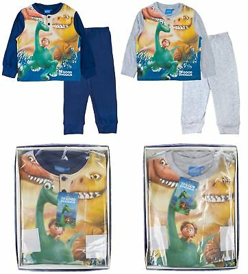 Disney The Good Dinosaur Pyjama Set Boys 100% Cotton Full Length PJs Gift Boxed