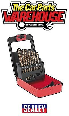 ⭐️Sealey AK4701 HSS Cobalt Split Point Fully Ground Drill Bit Set 19pc Metric⭐️