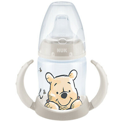 NUK First Choice+ Winnie the Pooh 300ml Bottle Salmon Size 1 Silicone Teat