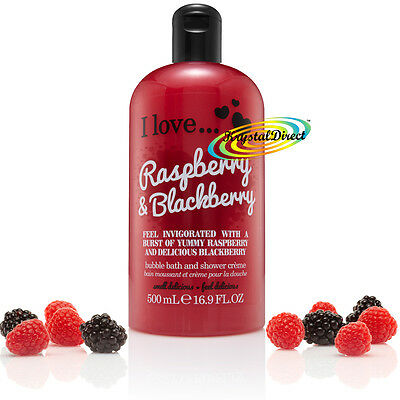 I Love... RASPBERRY & BLACKBERRY Bubble Bath Shower Creme Gel 500ml