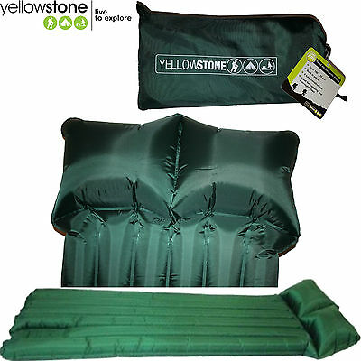 Tp100-New - Comfortable Green Reed Air Bed Built In Sink In Pillow & Carry Case