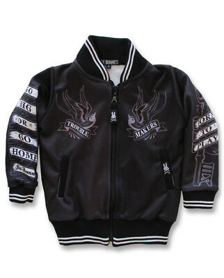 Six Bunnies Stay Gold Varsity Jacket Grey Black Cool Punk Rock Tattoo Warm Gift