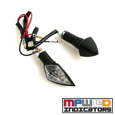 MPW Universal 12v Clear Lens Diamond Spear Motorcycle Micro LED Indicator