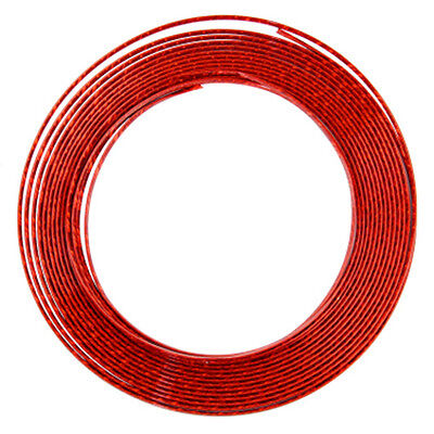 7mm 13M Profile Chrome Bumpers Adhesive Strip For Auto Exterior Red DP