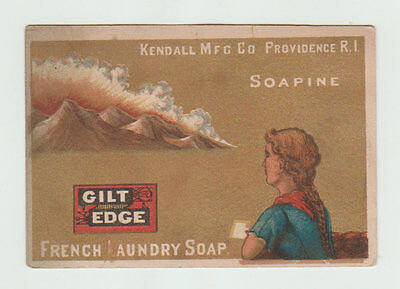Victorian Trade Card,[ Soapine Gilt Edge French Laundry Soap