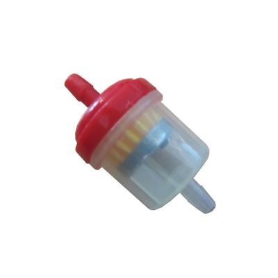 Universal Motorcycle Scooter Car Inline 6mm Magnetic Clear Fuel Filter Red