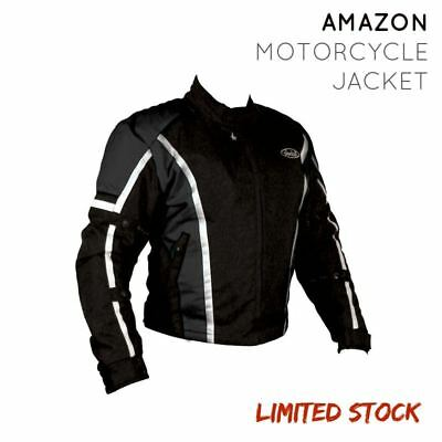 Motorcycle Motorbike Nankai Waterproof Summer Textile Jacket CE Armoured Black