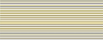 Modelmaster 4482 BR Black & Yellow Coach Lining For BR Maroon Coaches 1956- 1965