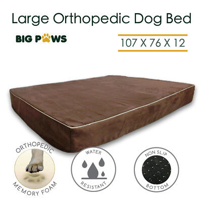 Memory Foam Dog Bed Orthopedic Large Dog Beds Pet Mat Cushion Water Resistant