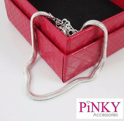 Silver Tone Anklet Chain Ankle Bracelet Snake Chain Shiny New UK SELLER
