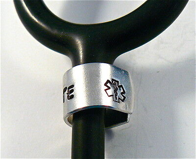 Stethoscope ID tag Ring,Personalized Engraved Name,Stethoscope Name Tag,EMS,RN