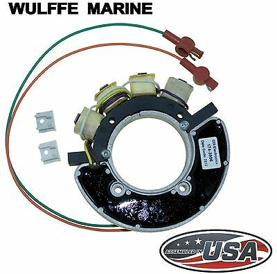 Stator for Mercury Outboard 7.5, 9.8, 20 Hp 174-3996 Rpls 336-3996, 336-3996A7