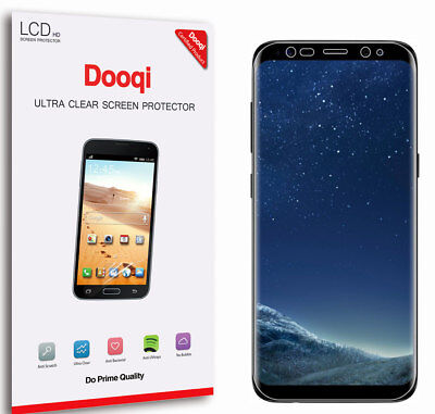 2X Dooqi Full Coverage HD Clear Screen Protector For Samsung Galaxy S8 Plus / S8