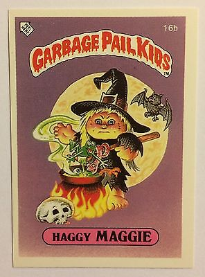 Haggy Maggie 16b Garbage Pail Kids (1985)UK 1st Series Sticker/Vintage/Topps