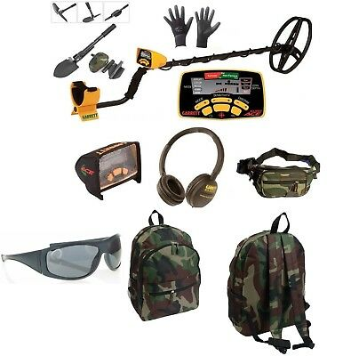 Metal Detector Garrett Euro Ace 350 Gifts Backpack Headphones Cover Pouch