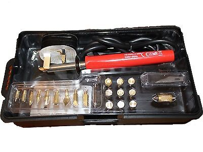 Wood Burning Pen 30W Soldering Set Pyrography Tool Kit With Tips Stand 25 Piece