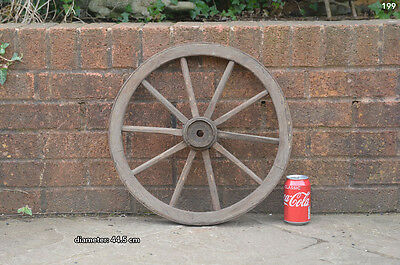 Vintage old wooden cart wagon wheel  / 44.5 cm FREE DELIVERY