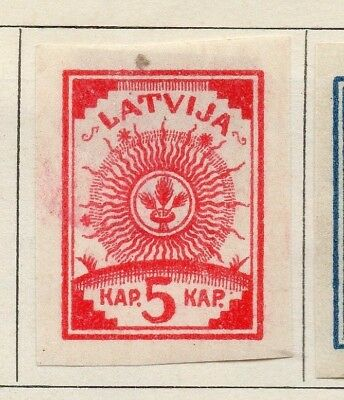 Latvia 1919 Early Issue Fine Mint Hinged 5k. Imperf 142703