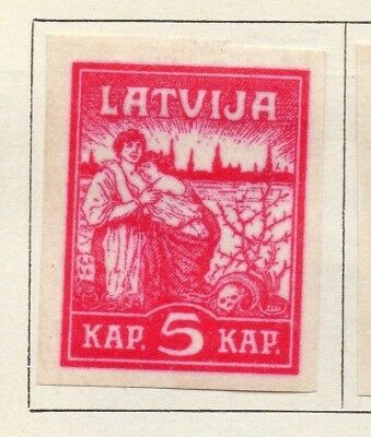 Latvia 1919 Early Issue Fine Mint Hinged 5k. Imperf 142716