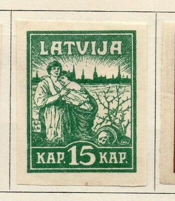 Latvia 1919 Early Issue Fine Mint Hinged 15k. Imperf 142717