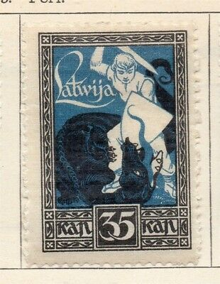 Latvia 1919 Early Issue Fine Mint Hinged 35k. 142727