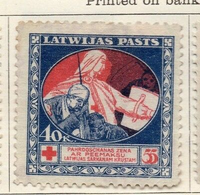 Latvia 1920 Early Issue Fine Mint Hinged 40k. 142743