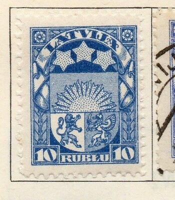 Latvia 1921 Early Issue Fine Mint Hinged 10r. 142746