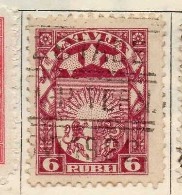 Latvia 1921 Early Issue Fine Used 6r. 142790