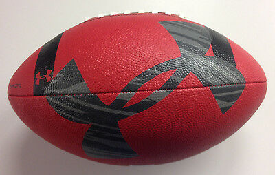 Under Armour UA 295 Official Size Red Gripskin Football - Age 14 & Up