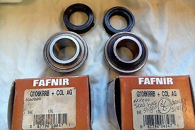 TWO Fafnir G1106KRRB + COL AG Machine bearings for ONE PRICE - FREE SHIPPING