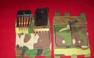mauser / G43/ P17/ ENFIELD/ nagant/ 1903A3/ buttstock ammo pouch / WOODLAND CAMO