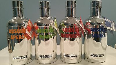 RARE SET FROM 2008 - 4 ABSOLUT VODKA LIMITED EDITION 700ml BOTTLE COVERS + TAGS