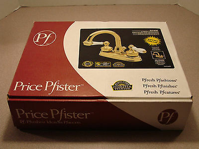 Price Pfister Savannah Collection 8H3-8PBP Solid Brass Lavatory Faucet NIB