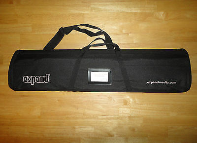 EXPAND MEDIA QuickScreen 3 Retractable Display Roll Up Banner with Case *NEW*
