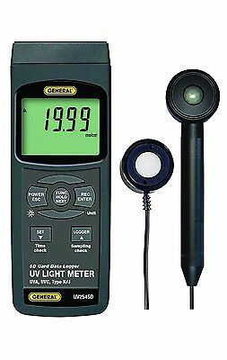 General Tools UV254SD UVC and UVA Data Logging Meter with Excel plus Formatted